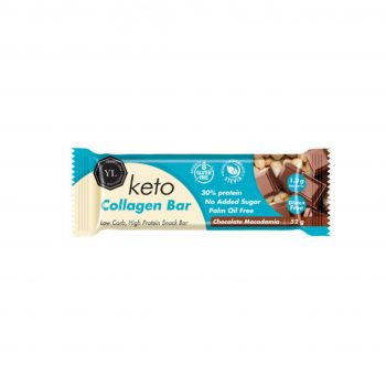 Keto Vegan Collagen Bar – Chocolate Macadamia