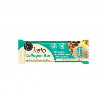 Keto Vegan Collagen Bar – Vanilla Almond